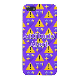 Attitude Alert iPhone SE/5/5S Matte Case (Purple) iPhone 5/5S Case