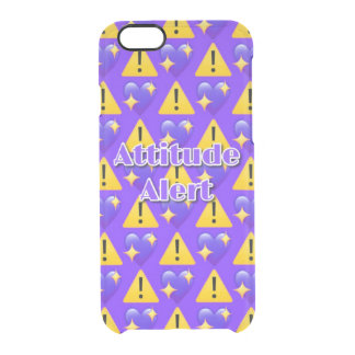 Attitude Alert (Purple) iPhone 6/6s Clearly™ Case