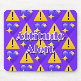 Attitude Alert (Purple) Mousepad