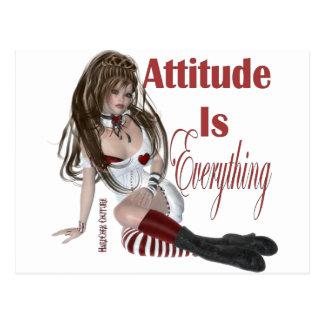 * Attitude Attitude is Everything Postcard