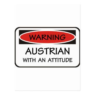 Attitude Austrian Postcard