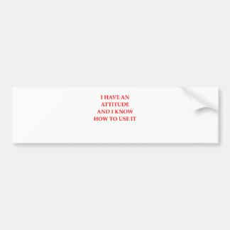 attitude bumper sticker