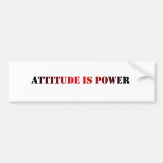 Attitude Bumper Sticker Car Bumper Sticker
