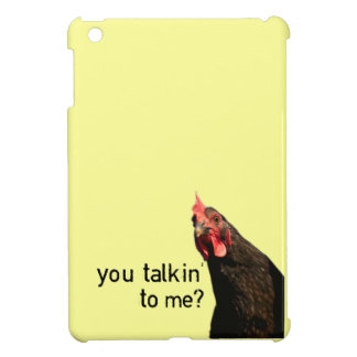 Attitude Chicken - You Talkin' To Me? iPad Mini Cases