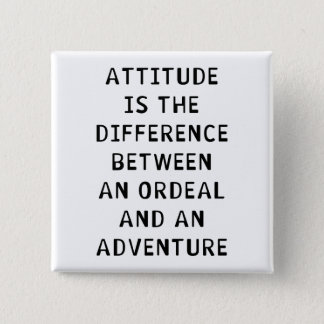 Attitude Difference 15 Cm Square Badge