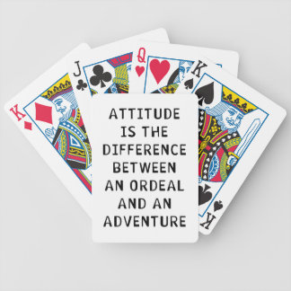 Attitude Difference Bicycle Playing Cards