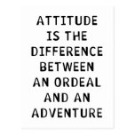 Attitude Difference Postcard