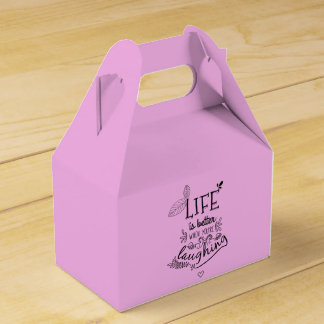 Attitude Happiness Life Laughter Quote Lavender Favour Box