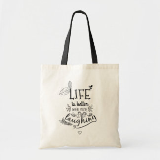 Attitude Happiness Life Quote Motivational Sucess Tote Bag