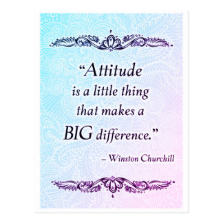 Attitude is a little thing - Positive Quote´s Postcard