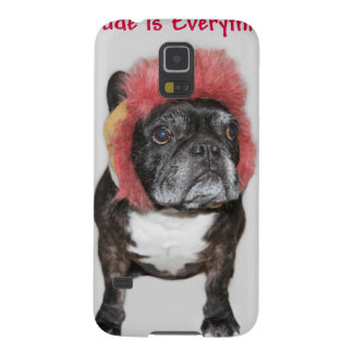 attitude is everything funny bulldog with hat case for galaxy s5