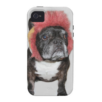 attitude is everything funny bulldog with hat case for the iPhone 4