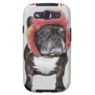 attitude is everything funny bulldog with hat samsung galaxy s3 cover