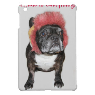 attitude is everything funny bulldog with hat cover for the iPad mini