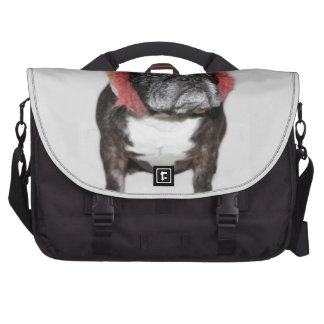 attitude is everything funny bulldog with hat laptop bag