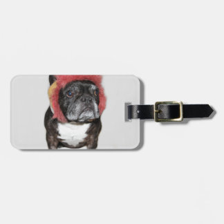 attitude is everything funny bulldog with hat tags for bags