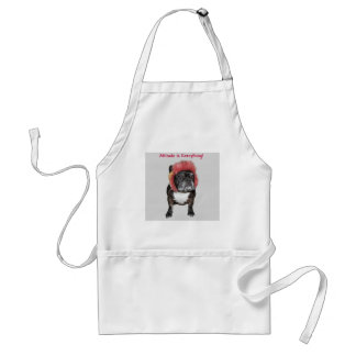 attitude is everything funny bulldog with hat standard apron