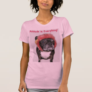 attitude is everything funny bulldog with hat t shirts