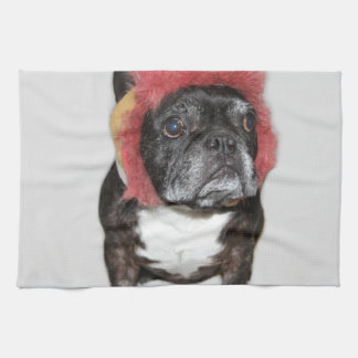 attitude is everything funny bulldog with hat towel