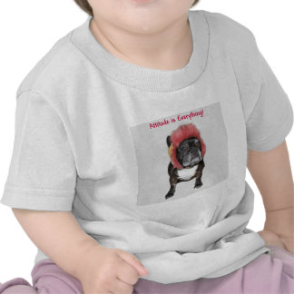 attitude is everything funny bulldog with hat t shirt