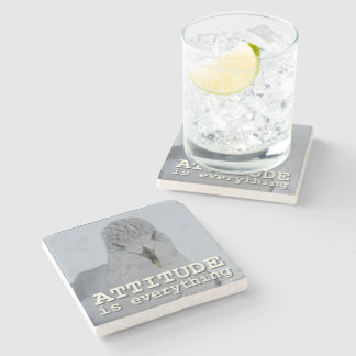 Attitude is Everything Motivational Customizable Stone Beverage Coaster