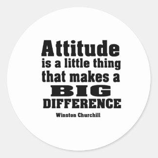 Attitude makes a big difference classic round sticker