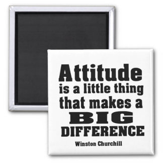 Attitude makes a big difference square magnet