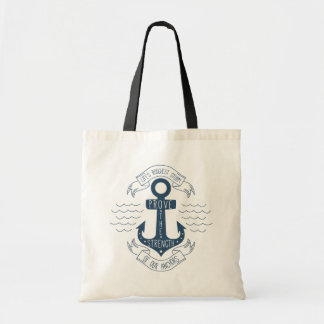 Attitude Motivational Life Quote Anchor Dreams Tote Bag
