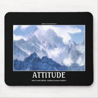 ATTITUDE Mountain Range Motivational Mousepad