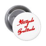 Attitude of Gradtitude Pinback Buttons