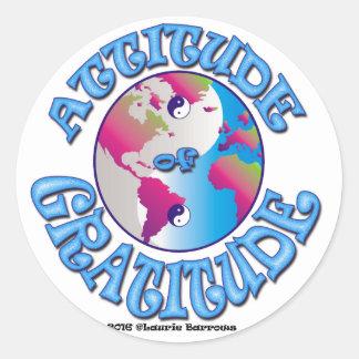 Attitude of Gratitude Classic Round Sticker