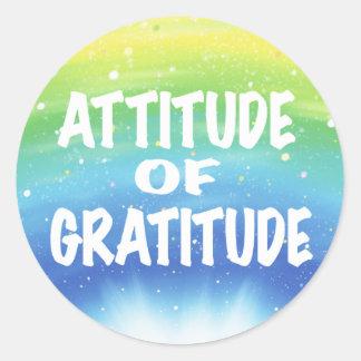 Attitude of Gratitude Round Sticker