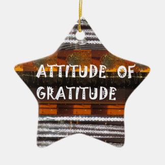 ATTITUDE of Gratitude  Text Wisdom Words Christmas Ornament