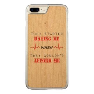 Attitude Quote  On Apple iphone 7 Plus Wood Case