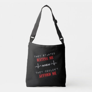 Attitude Quote  On Cross Body Bag