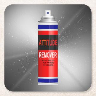 Attitude remover. square paper coaster