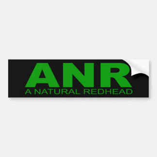 "Attitudes - ""A Natural Redhead"" Bumper Sticker"