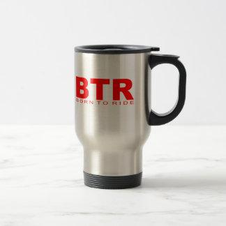 "Attitudes - ""Born To Ride"" Stainless Steel Travel Mug"