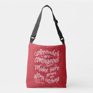 ATTITUDES custom color motivational bags