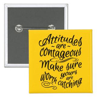 ATTITUDES custom color motivational buttons