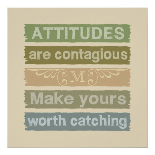 ATTITUDES custom monogram motivational poster Print