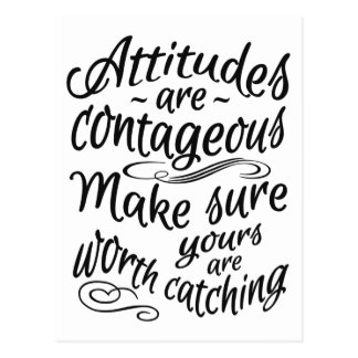 ATTITUDES motivational postcard