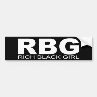"""Attitudes - """"Rich Black Girl"""" Bumper Sticker"""