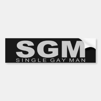 "Attitudes - ""Single Gay Man"" Bumper Sticker"