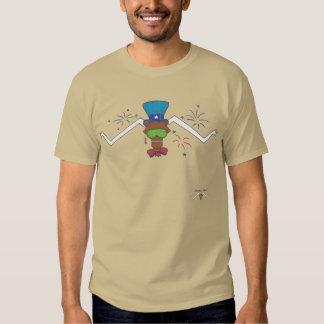 Attitudinous Animals® Lone Star Steer July 4th T Shirt