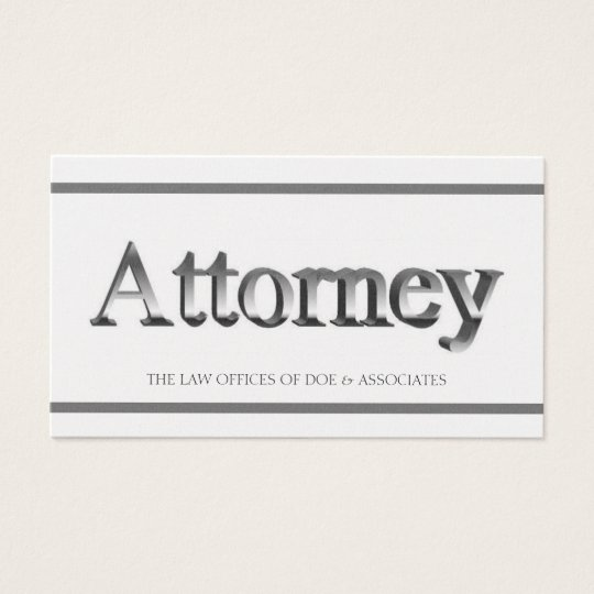 Attorney 3D Stripes Golden Business Card