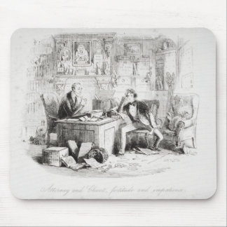 Attorney and Client, fortitude and impatience Mouse Pads