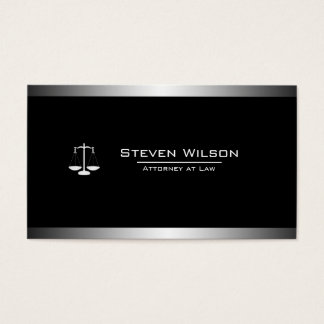 Attorney At Law Black and White Legal Scale Business Card