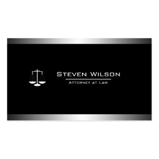 Attorney At Law Black and White Legal Scale Pack Of Standard Business Cards