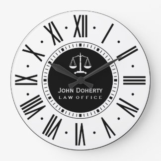 Attorney At Law | Classic Black & White Large Clock